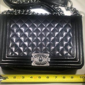 CHANEL le boy bag black